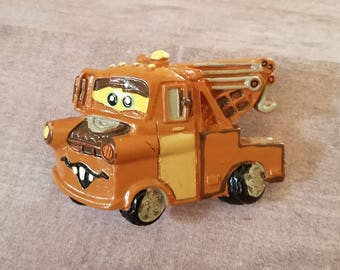 Tow Truck Cars Brooch