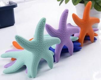 Baby Silicone Teething Starfish, Nautical