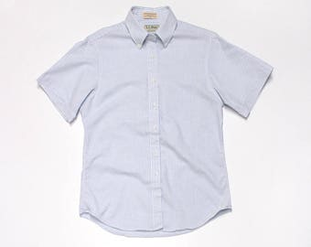 LL Bean Striped Short Sleeve