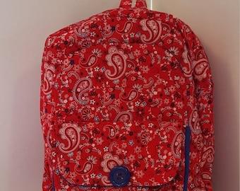 SALE Red Paisley Preschool Backpack