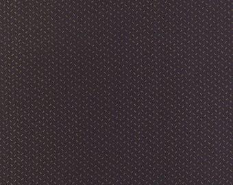 20 % off thru 7/4 moda fabric by 1/2 yard MINIATURE PRIMITIVE GATHERINGS-tiny tan sprigs on blackberry black 1154-25
