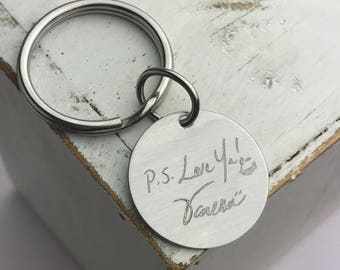 Custom Handwriting | Personalized Keychain | Engraved Gifts