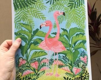 Flamingos 8x10 Print