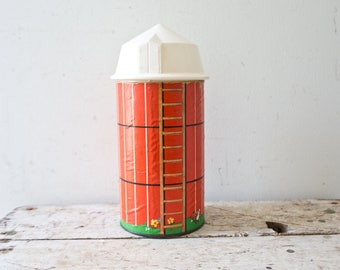 Fisher Price Farm Barn Silo - House 1960s Fisher Price Barn Vintage Toy Vintage Barn Storage Container Farming