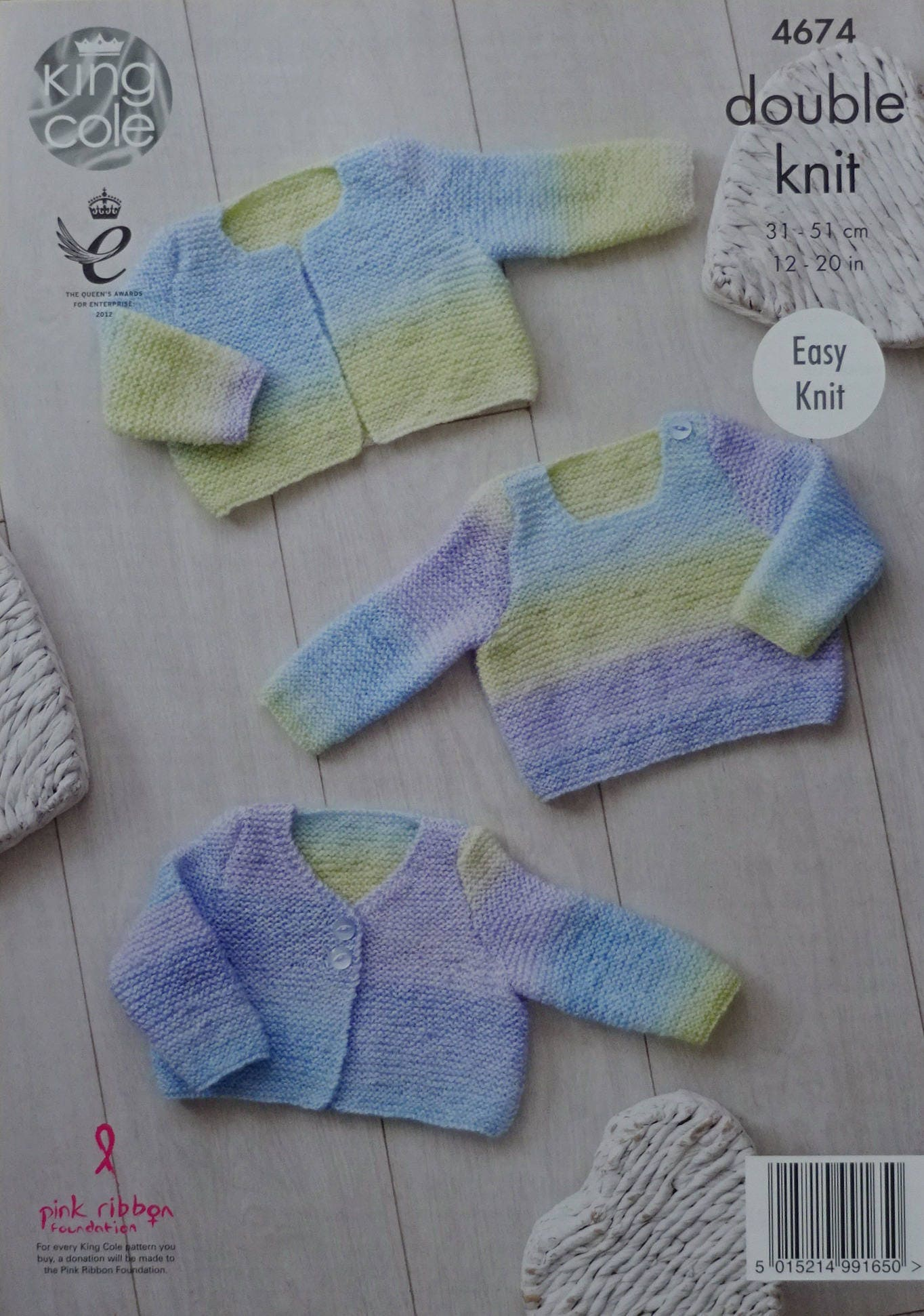 Knitting Patterns Easy Jumpers : Baby Knitting Pattern K4674 Babys Very Easy Knit Jumper & Cardigans ...