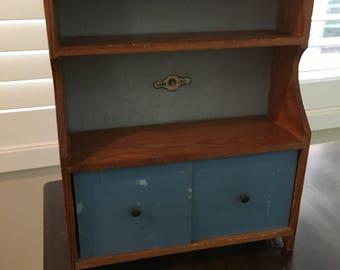 Vintage Antique Doll Hutch Wood Furniture Mary Lu Jc Pennys