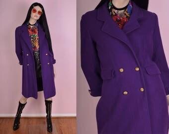 Purple wool coat | Etsy