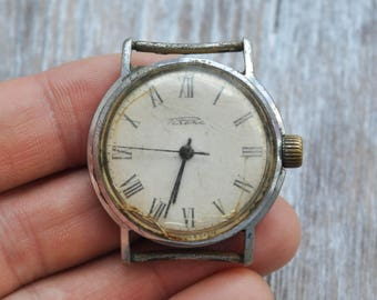 RAKETA Vintage Soviet Russian wrist watch for parts. Didn't work.
