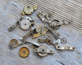 Antique pocket watch parts to use in your artwork.