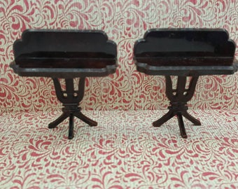 Plasco Side Tables  Toy Dollhouse Traditional Style 1944  Dining room  set of two