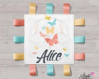 Butterflies - Personalised tag blanket