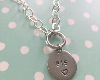 815 pride pewter hand stamped necklace