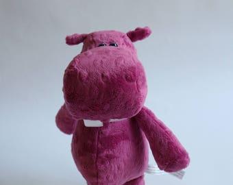 "Hippo Stuffed Animal - ""Ginny"""
