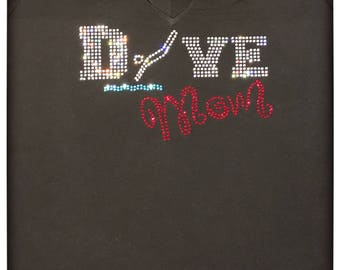 BLiNg Dive Mom Custom Rhinestone Shirt