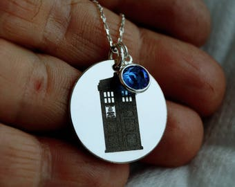 Doctor Who Necklace, Custom Personalized necklace, Doctor Who Jewelry, TARDIS, dr who jewelry, your secret message necklace, Tardis gift