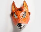 masquerade fox paper mask