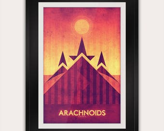 Space Travel Poster - Venus - Arachnoids
