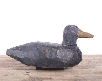 Vintage Wood Duck Decoy / Primitive Wood Duck / Carved Wood Duck / Antique Wood Duck Decoys / Wood Duck Carving / Unique Mens Gift / Hunting