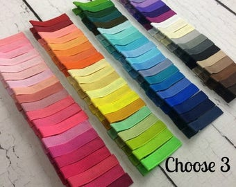 ON SALE Girls Hair Clips, 3 Simple Alligator Clips, You Choose From 85 Colors, Starter Set, Babies Toddler Girl Women