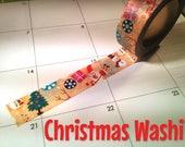 Christmas Santa xmas tree snowman washi tape, winter, scenery, planner, craft, scrapbooking, journal, bujo, masking tape, paper tape