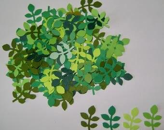 Shades of Green Leaf Embellishments