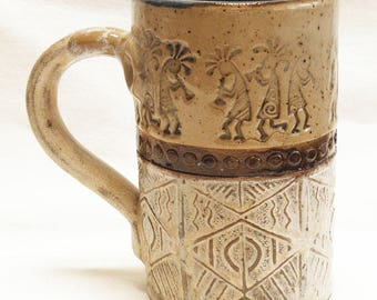 southwest kokopelli 16oz ceramic coffee mug 16D075