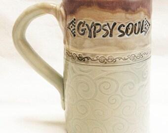 ceramic mug 16oz GYPSY SOUL coffee mug CC16D079