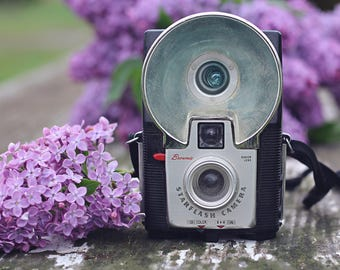 Vintage, Camera, Lilac, Purple, Bedroom, Office, Black, Home Decor, Original Fine Art Photograph, Print