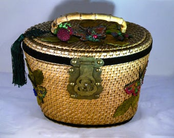 """Vintage handbag """"Butterfly """""""