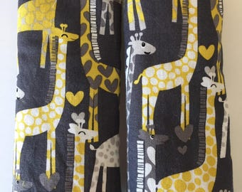 Giraffes- Car Seat Strap Covers/Stroller Strap Covers/Reversible Strap Covers