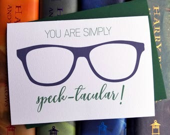 You Are Speck-tacular Thank You Card with Matching Green Envelope