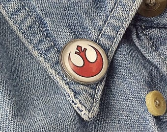 Star Wars Pin Rogue One Pin Rebel Alliance Star Wars Movie Button B126