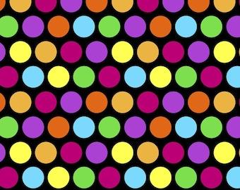 David Textiles Dotty Dots Anti Pill Fleece Fabric by the Yard
