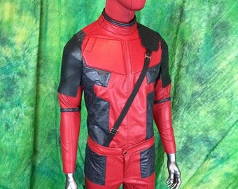 Deadpool costume, Jacket, Pants, Mask, Gloves-- Selling my Demo, Size Men's Small