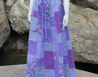 Patchwork Skirt Handmade Festival Skirt Festival Clothes Hippie Clothes Hippie Skirt Hippie Clothing Festival Clothing Purple Pink Blue