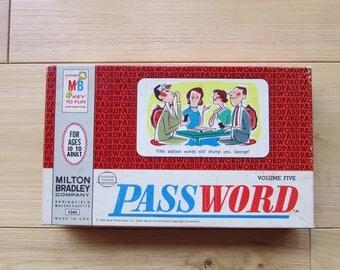 Password 1964 Milton Bradley Game