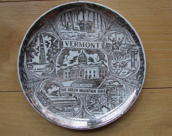 Vermont State Souvenir Collectable Plate