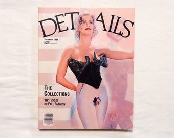 September 1989 DETAILS Magazine 101 Pages of Fall Fashion + NWA Featurette