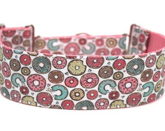 "Donut Dog Collar 2"" wide Martingale Dog Collar for Large Breed Dogs Doughnut Dog Collar"