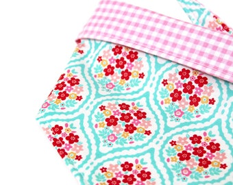 Floral Dog Bandana Gingham Dog Bandana Reversible Dog Bandana