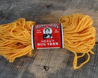 Vintage Aunt Lydia's Gold 559 Heavy Rug Yarn  70 Yard