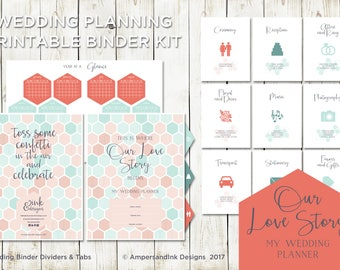 wedding planning tools dividers tabs worksheets and checklist wedding planner wedding organizer