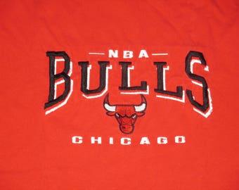 Vintage 1990s Chicago Bulls Hip Hop T Shirt