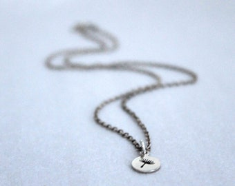 Delicate Wish Necklace Sterling Silver