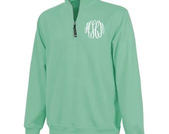 Monogrammed 1/4 Zip Pullover - Mint