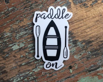Lake Life Vinyl Sticker, boating decal, canoe sticker, canoe decal, boat deal, outdoor adventure decal