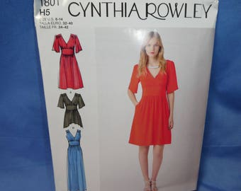Simplicity 1801, Cynthia Rowley Dress, Tunic Sewing Pattern, 6 - 14, uncut