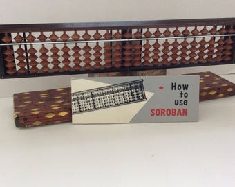 Abacus - Japanese Tomoe Soroban - Geek Gift - Mathematicsl - Vintage - Made in Japan - includes instruction booklet & box