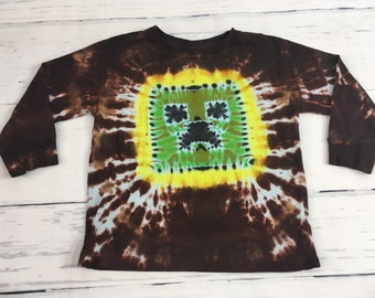 Kids 4T Toddler Bat ManTie Dye Tee Shirt Long Sleeve