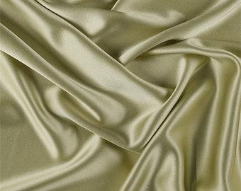 Peridot Silk Crepe Back Satin, Fabric By The Yard